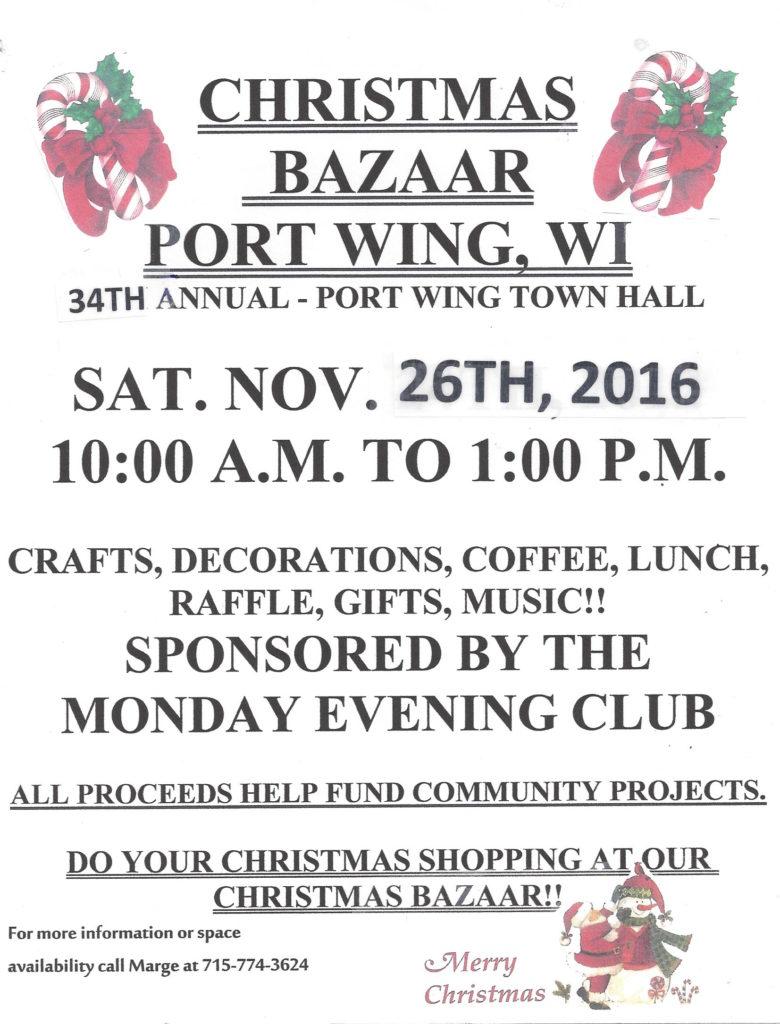 Christmas Bazaar Poster