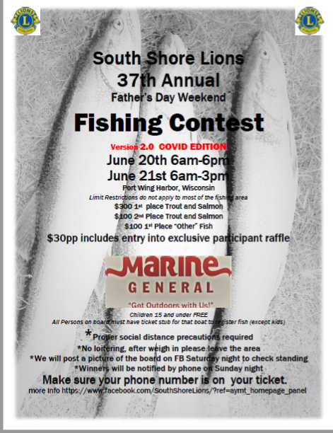 South Shore Lions Fishing Contest Poster