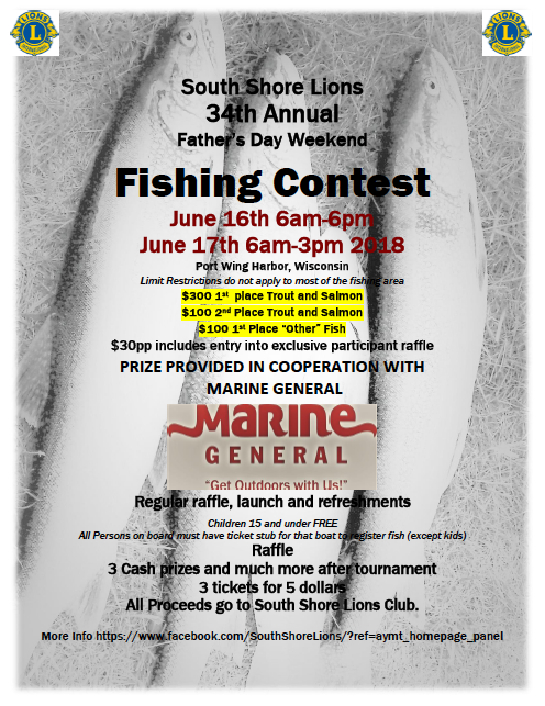 2018 Lions Fishing Contest