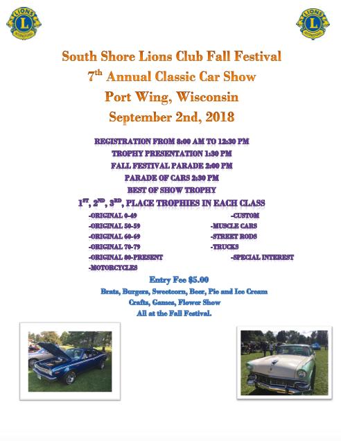 2018 Fall Festival Car Show