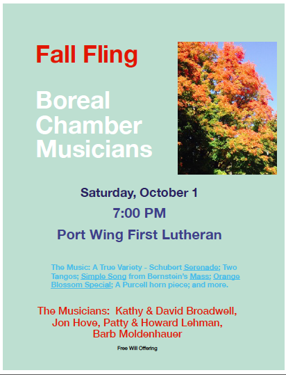 Boreal Concert Poster