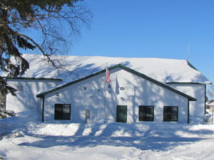 Firehall in winter