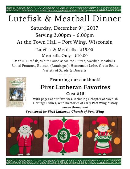 2017 Lutefisk Dinner Poster
