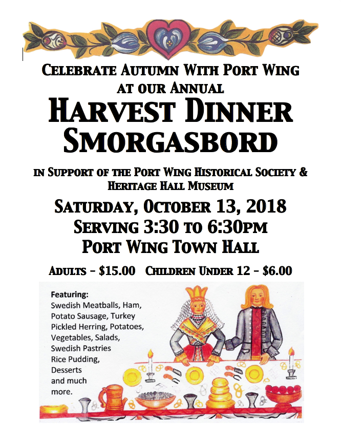 Port Wing Harvest Dinner