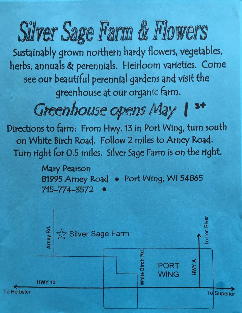 Mary Pearson's Silver Sage Greenhouse
