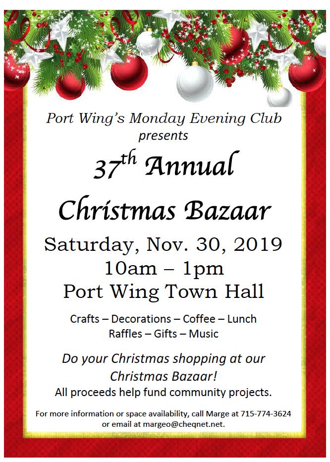 2019 Christmas Bazaar