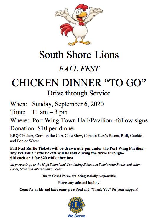 Lions Chicken Dinner